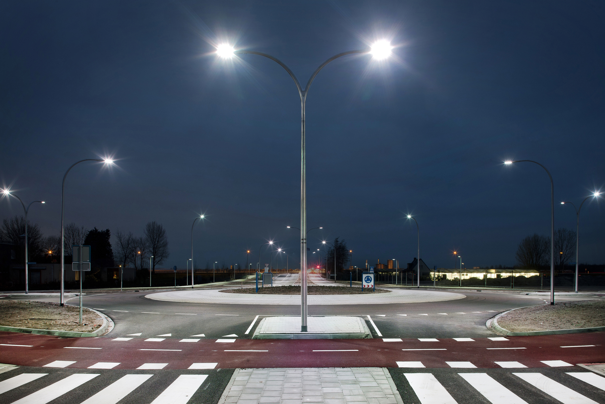 LED (Light Emitting Diodes) lights are durable, resilient, and efficient, making them a superior security choice when compared to solar lighting.